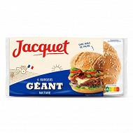 Jacquet hamburger géant nature x4 330g