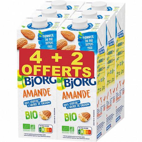 Bjorg lot 4+2 boisson amande calcium 6x1l