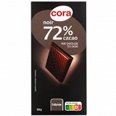 Cora chocolat noir supérieur 72% 100g