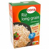 Cora riz long grain étuvé 5 x 200g