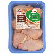 Cora haut de cuisse de poulet blanc sans OGM sans antibiotiques x4