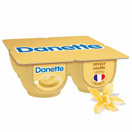 Danette saveur vanille 4x125g