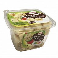 Cora cubes de gouda cumin apéritif et salades barquette 30%mg 150g