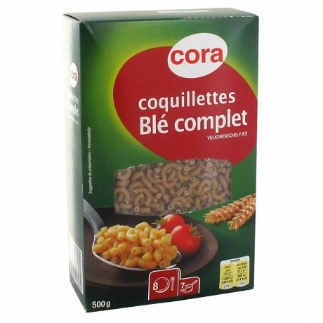 Cora coquillettes blé complet 500g