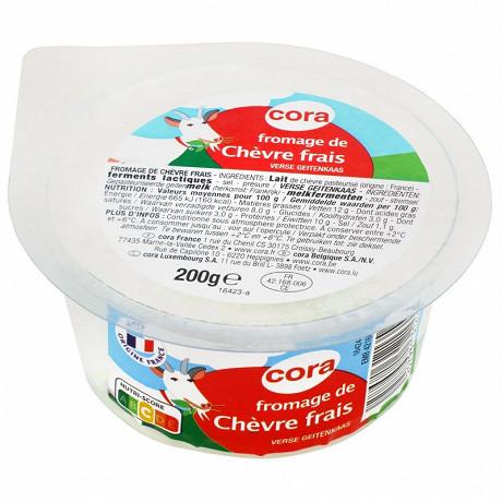 Cora fromage de chèvre frais au lait pasteurisé 200g