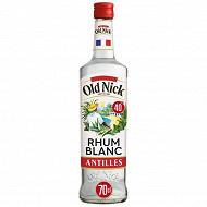 Old nick rhum blanc  70cl 40%vol