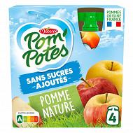 Pom'potes sans scures ajoutés pomme nature 4x90g