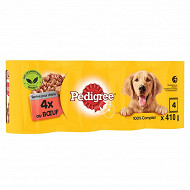 Pedigree boîtes pour chien en terrine au boeuf 4x410g