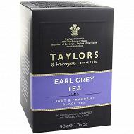 Taylors of harrogate thé earl grey 20 sachets 50g