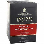 Taylors of harrogate thé english breakfast 20 sachets 50g