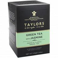 Taylors of harrogate thé vert au jasmin 20 sachets 40g