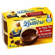 La Laitière le petit pot de crème chocolat extra noir 4x100g