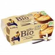 La Laitière crème aux oeufs à la vanille bio 4x95g