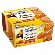La Laitière frais et fondant caramel 4x115g
