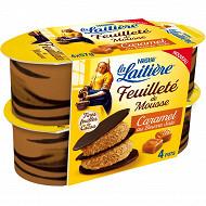 La Laitière feuilleté de mousse caramel beurre salé 4x57g