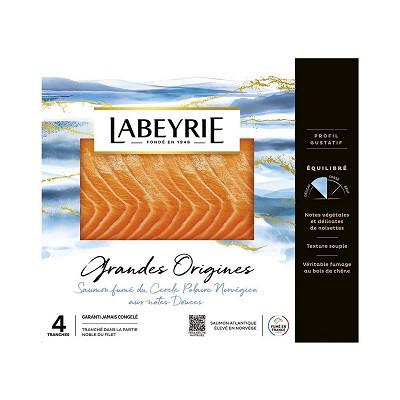 Labeyrie Labeyrie saumon fumé du cercle polaire Norvège 4 tranches 130g