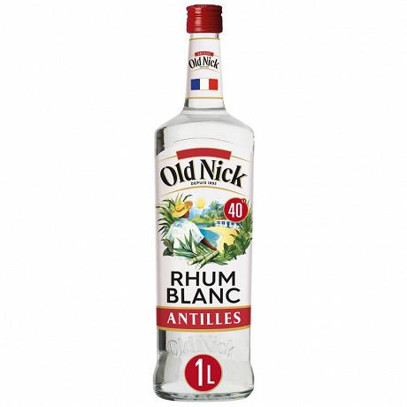 Old nick rhum blanc traditionnel 1L 40%vol