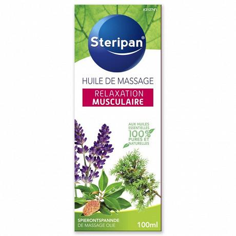 Steripan huile de massage relaxation musculaire aux huiles essentielles 100ml