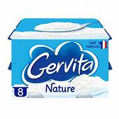 Gervita fromage blanc nature sous mousse fouettée à la crème 8x100g