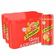 Schweppes agrumes boite slim 12x33cl
