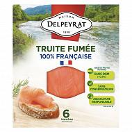 Delpeyrat truite fumée Pyrénées 6 tranches 180g
