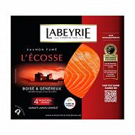 Labeyrie Saumon fumé d'Ecosse 4 tranches 130g