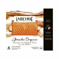 Labeyrie saumon Atlantique d'Ecosse fumé 4 tranches 120g