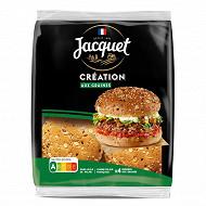 Jacquet 4 burgers création graines 260g