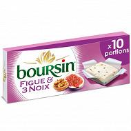 Boursin figue et 3 noix 10 portions 160 g