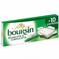 Boursin échalotte & ciboulette 10 portions 160g