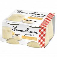 Bonne Maman yaourt vanille naturelle 4 x 125 g