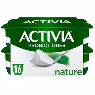 Activia lait fermenté nature au bifidus 16x125g