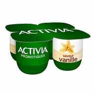 Activia bifidus saveur vanille sans arôme artificiel 4x125g