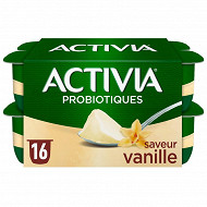 Activia bifidus saveur vanille sans arôme artificiel 16x125g