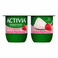 Activia bifidus saveur framboise sans arôme artificiel 4x125g