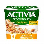 Activia bifidus céréales granola amarante 4x120g