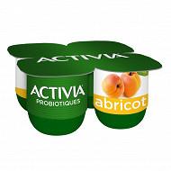 Activia bifidus fruits abricot 4x125g