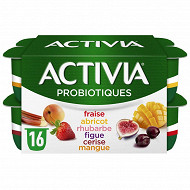 Activia bifidus fruits panaché 16x125g
