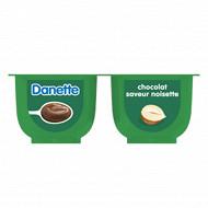 Danette saveur chocolat noisette 4x125g