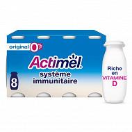 Danone Actimel spécialité laitière fermenté à boire nature 0% 8x100g