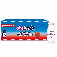 Danone Actimel lait fermenté à boire goût fraise 12x100g