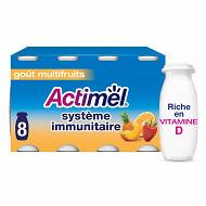 Danone Actimel lait fermenté à boire goût multifruits 8x100g