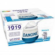 Danone yaourt aux ferments d'origine naturelle nature 4x125g