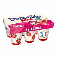 Danonino paille fraise 6x100g
