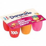 Danonino aux fruits fraise framboise abricot 6x100g