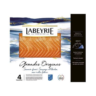 Labeyrie Labeyrie saumon fumé sauvage d'Alaska pêché à la ligne 4 tranches 120g