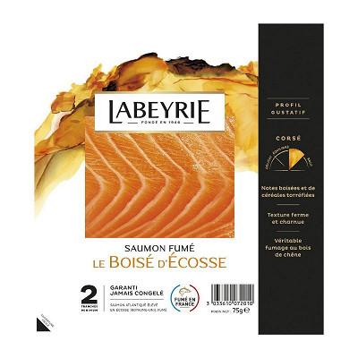 Labeyrie Labeyrie saumon atlantique d'écosse fumé 2 tranches 75g