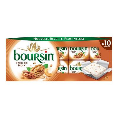 Boursin Boursin trio de noix 10 portions 160g