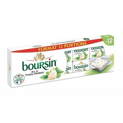 Boursin Boursin ail et fines herbes 12 portions 192g offre irrésistible