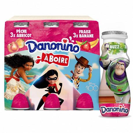 Danonino à boire saveur fraise banane abricot pêche 6x100g